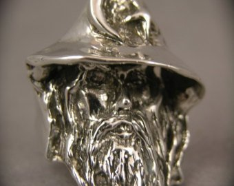 Merlin the Wizard Magick Sterling Silver Ring