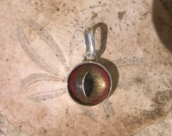 Glass Shark Eye Sterling Silver Pendant