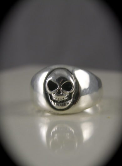 Laughing Skull Sterling Silver Ring
