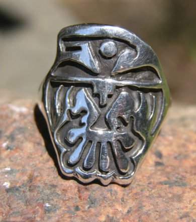 Native American Eagle Totem Sterling Silver Ring