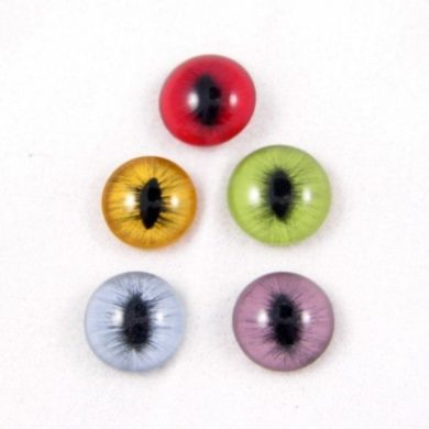 Glass Cat Eye Sterling Silver Pendant Charm