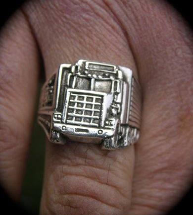 Big Rig Truckers Sterling Silver Ring