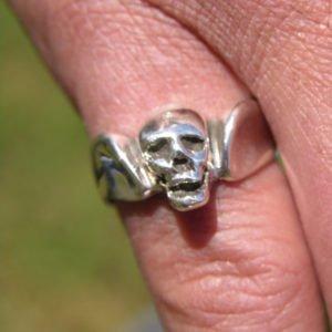 Sterling Silver Skull Head Ring