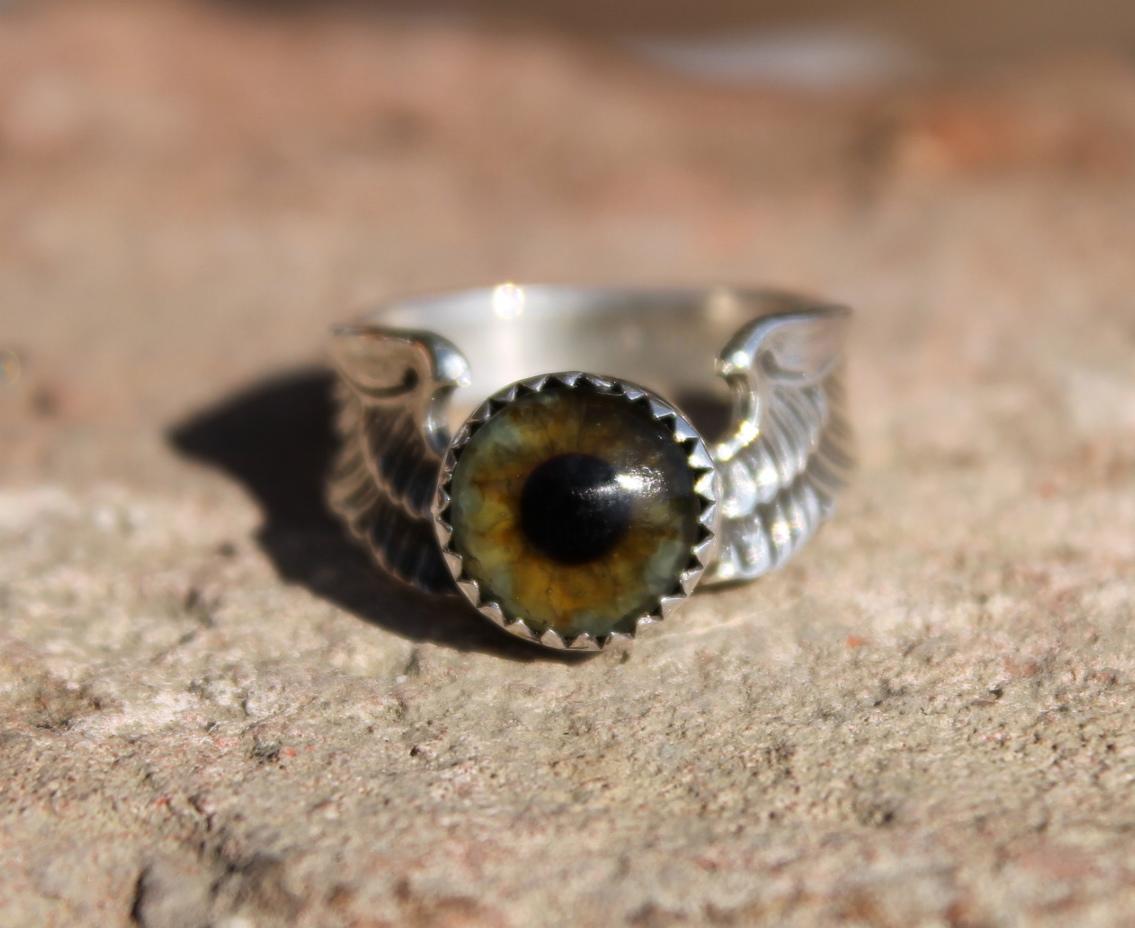 sterling silver flying eyeball ring freedom jewelry usa