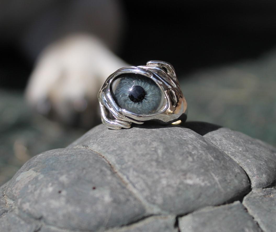 sterling silver 2 prosthetic eye ring freedom