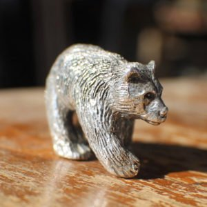 Sterling Silver Bear Figurine