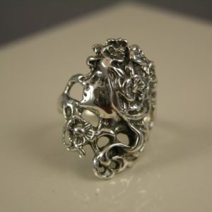 Sterling Silver Deco Princess Ring