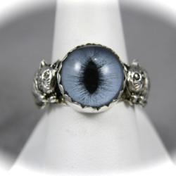 Sterling Glass Cat Eye Ring