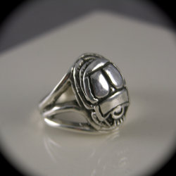 Sterlimg Silver Scarab Beetle Ring by freedomjewelryusa