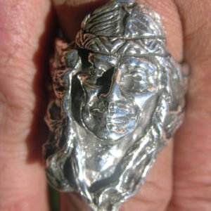 Sterling Silver Native American Indian Head Ring