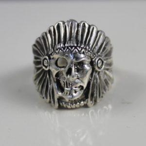 Sterling Silver Ghost Rider Skull Head Ring