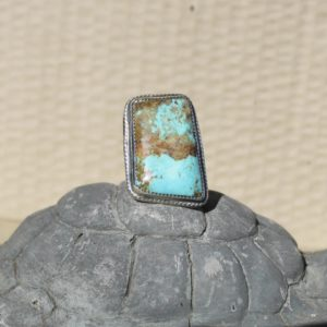 Sz 9.5 Sterling Silver Turquoise Ring