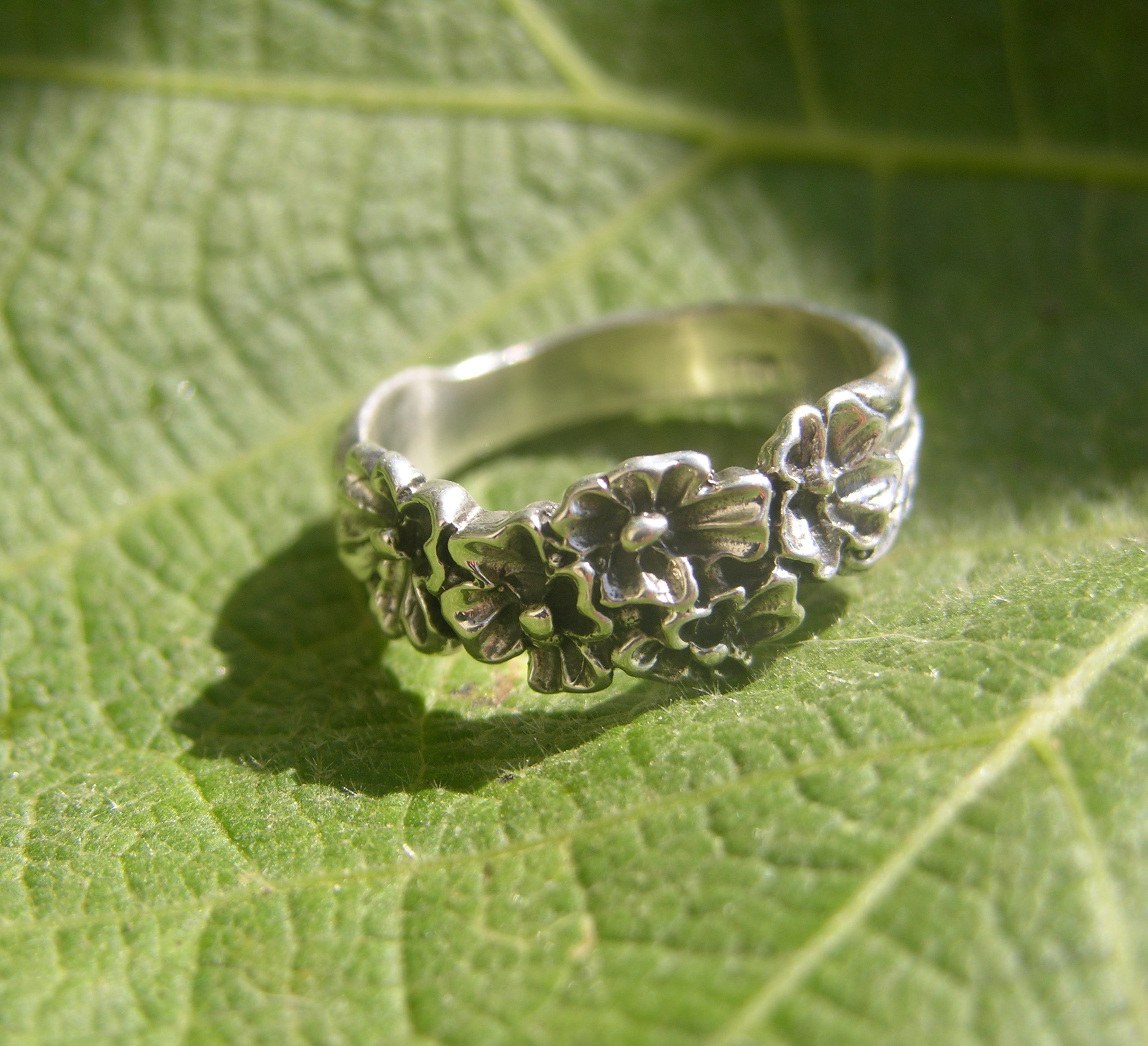 Sterling Silver Flower Ring Band Freedom Jewelry Usa