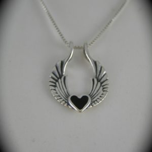 Silver Winged Heart Pendant