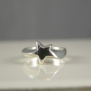 Silver Shooting Star Ring