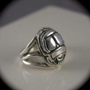 Sterling Silver Scarab Beetle Ring