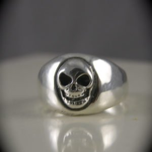 Smooth Silver Skull Laughing At You