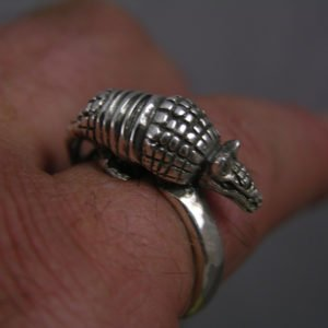 Sterling Silver Armadillo Ring
