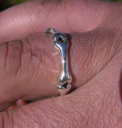 Sterling Silver Bone Ring