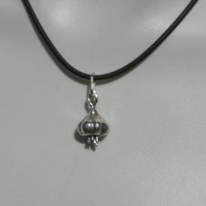 Sterling Silver Garlic Bulb Pendant