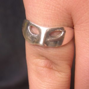 Unique Sterling SIlver Mask Ring