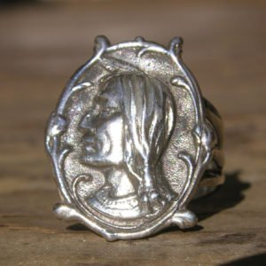 Sterling Silver Native Apache Head Ring