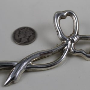Sterling Large Bow Pin Brooch/Pendant