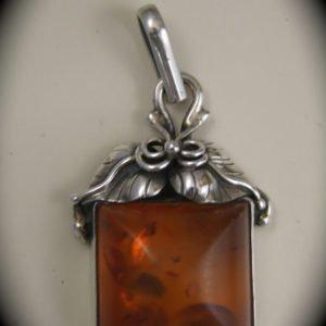 Sterling Handmade Amber Pendant