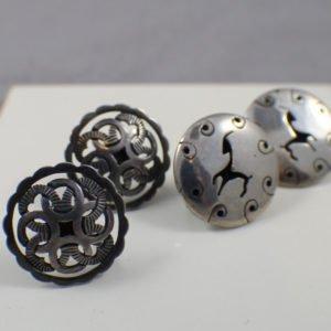 Sterling Silver Vintage Mexico Earrings 2 pr. Lot