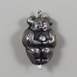 Sterling Silver Repousse Buddha Bead